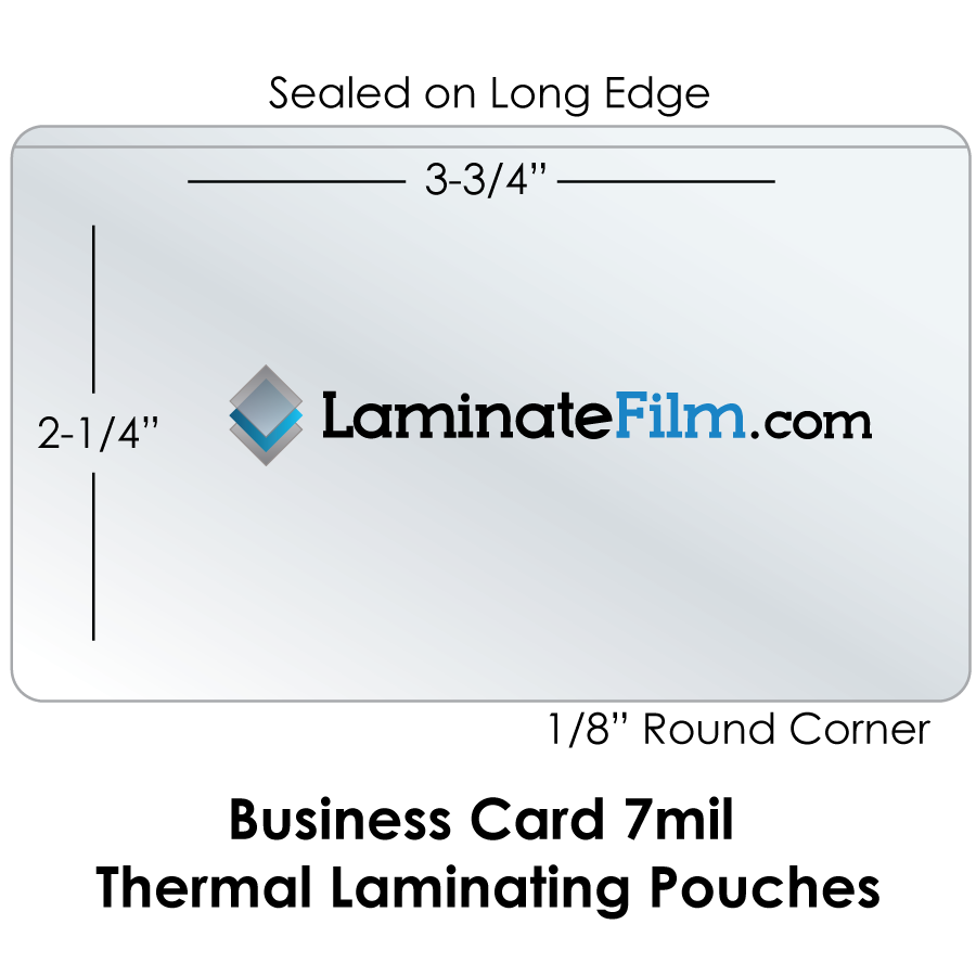 Small Laminating Pouches, Business Card 7 Mil Laminating Pouches