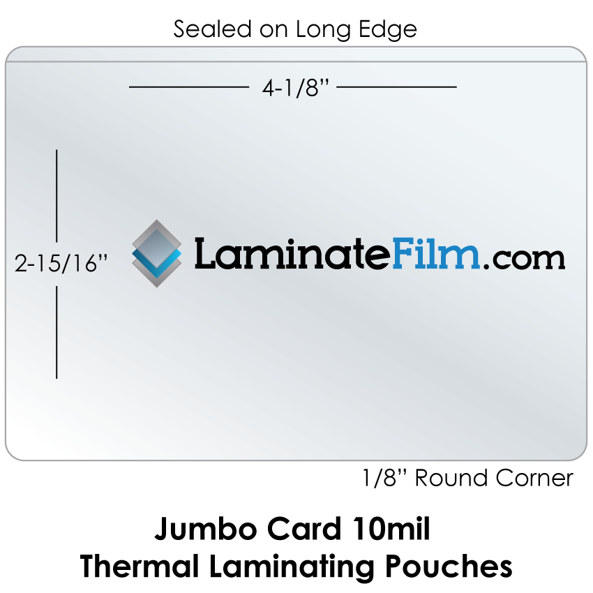 Small Laminating Pouches 10mil Jumbo Card Thermal